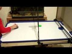 DIYer's air hockey robot can precisely track and smack rebounding pucks