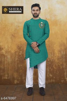Kurta Sets Attractive Men's Wear Kurta set Top Fabric: Cotton Bottom Fabric: Cotton Sleeve Length: Long Sleeves Bottom Type: Straight Pajama Stitch Type: Stitched Pattern: Solid Sizes: XL (Chest Size: 45 in Top Length Size: 44 in Bottom Waist Size: 34 in Bottom Length Size: 42 in)  L (Chest Size: 43 in Top Length Size: 44 in Bottom Waist Size: 32 in Bottom Length Size: 42 in)  M (Chest Size: 41 in Top Length Size: 44 in Bottom Waist Size: 30 in Bottom Length Size: 42 in)  XXL (Chest Size: 47 in Top Length Size: 44 in Bottom Waist Size: 36 in Bottom Length Size: 42 in) Country of Origin: India Sizes Available: M, L, XL, XXL *Proof of Safe Delivery! Click to know on Safety Standards of Delivery Partners- https://ltl.sh/y_nZrAV3  Catalog Rating: ★4 (2556)  Catalog Name: Fashionable Men Kurta Sets CatalogID_1030940 C66-SC1201 Code: 368-6476997-