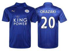 Leicester City #20 Shinji Okazaki 2016-17 Home Short Shirt