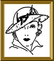 1930s Hat Sewing Instructions 1935 Spring hat PDF Downloadable Pattern Ruth Wyeth Spears