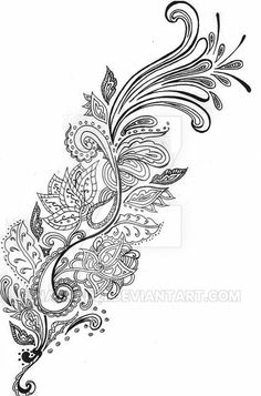 A floral paisley design I came up with for Gareth who came in looking for a...half sleeve i think it was of paisley, with a focal flower near the top of his arm, and smaller ones coming off the ste...