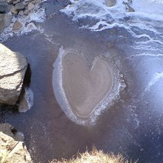 ˚Sand and ice formed this heart found in Nature