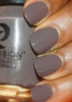 """""""Next up is a polish that struck me as so beautiful in this collection. I KNOW! It's dark, yet I find it gorgeous! This polish below is called You're in De-nile River."""""""