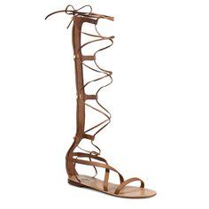 Rank & Style - Valentino Rock Stud Leather Knee-High Gladiator Sandals #rankandstyle