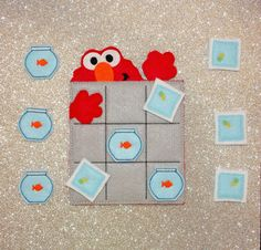 Your place to buy and sell all things handmade Tic Tac Toe Board, Tic Tac Toe Game, Busy Book, Elmo, Pinterest Board, Awesome Things, Projects For Kids, Little Ones, Brain
