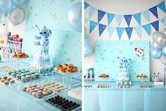 Shut the front door!!! Thanks Amy for sharing this with me! Outer Space inspired baby shower theme!