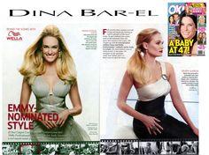 E!'s Ashlan Gorse in OK Magazine wearing Dina Bar-El