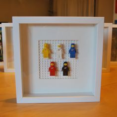 """""""Classic Space, Classic Colours"""" Lego framed wall art and display by Ben Teoh Lego Minifigure Display, Lego Display, Display Boxes, Toy Room Storage, Lego Wall Art, Toy Corner, Lego Frame, Lego Winter Village, Lego Bedroom"""