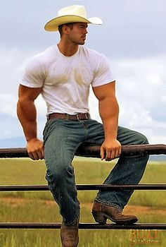 Sexy Handsome Cowboy Sitting Out On The Paddock Fence Country Man, Texas Cowboys, Hot Cowboys, Cow Boys, Farm Boys, Daddy, Cowboy Up, Cowboy Boots, Western Cowboy