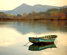 Boat on peaceful waters -