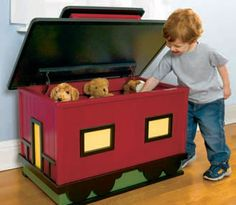 Toy Box Plans - Train Style - Woodwork City Free Woodworking Plans