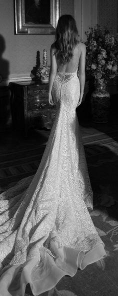 Open back Mermaid Wedding Dress by Berta Bridal Fall 2015 / http://www.himisspuff.com/mermaid-wedding-dresses/9/