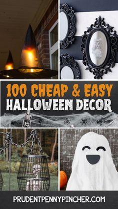 Easy Halloween Decorations, Halloween Crafts For Kids, Outdoor Halloween, Diy Party Decorations, Halloween Party Decor, Holidays Halloween, Fall Pumpkin Crafts, Pretty Halloween, Homemade Halloween