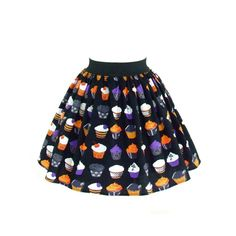 Inked Boutique - Gothic Cupcakes A-Line Skirt Retro Vintage Inspired Rockabilly Clothing http://www.inkedboutique.com