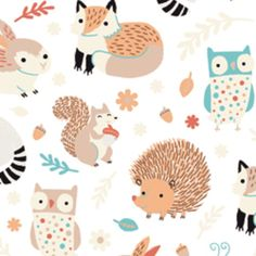 Alyssa Thomas - Critter Patch Organic - Forest Frolic in White
