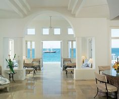 Hotels....Temenos, a private rental property in Anguilla, consists of three villas that uses white and spare elements to bring the attention to the beautiful Caribbean surroundings.