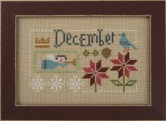 November December Yearbook Double Flip from Lizzie Kate Counted Cross Stitch Designs Cross Stitch Love, Cross Stitch Samplers, Cross Stitch Charts, Counted Cross Stitch Patterns, Cross Stitch Designs, Cross Stitching, Cross Stitch Embroidery, Embroidery Works, Hand Embroidery