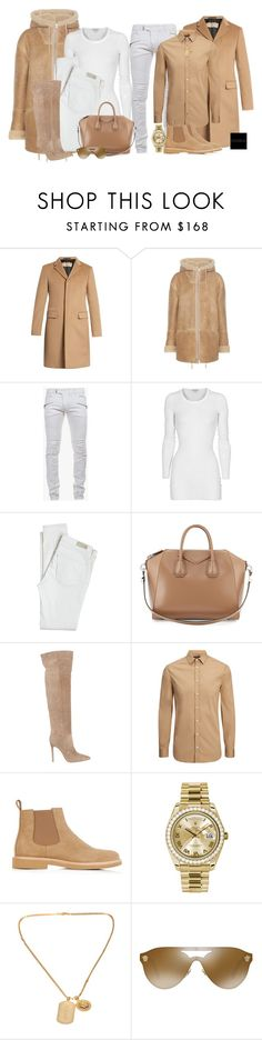 """Untitled #1029"" by jetadorejas ❤ liked on Polyvore featuring Burberry, adidas Originals, Balmain, James Perse, Antik Batik, Givenchy, Gianvito Rossi, Joseph, A.P.C. and Rolex"