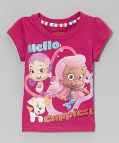 Take a look at this Fuchsia 'Hello Guppies' Tee - Toddler by Bubble Guppies on #zulily today!