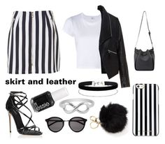 """""""leather is back"""" by styles-fashions on Polyvore featuring RE/DONE, Zizzi, Dolce&Gabbana, MICHAEL Michael Kors, Yves Saint Laurent, Miss Selfridge, Jewel Exclusive and Essie"""