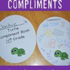 """Are you looking for end of year activities for your students? Then you're going to LOVE this turtle compliments activity! Students in 2nd, 3rd, 4th, 5th, or 6th grade will go around writing compliments on one another's """"shell"""". Click through to get all the details! It comes with a memory book so you can make this your entire end of year project! Even better, it helps boost student morale, so you can use it at ANY time of year! $ (second, third, fourth, fifth, or sixth grade)"""