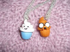 Jake and Finn Cupcakes necklace by TheHappyFactory118 on Etsy $8