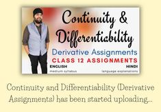 #ContinuityAndDifferentiability  #education #homelearning #selfeducation #IITJee #iitjeepreparation #JeeMains #homeschooling #growth #homeeducation #selflearning #class12maths #ncertsolutions #mathstudent #maths #mathematics #grow #personalgrowth #personalizedlearning #selfdevelopment #selfgrowth #ncertsolutions #pdfnotes  #important #board #onlinetutoring #studynotes #notes Class 12 Maths, Online Tutoring, Home Learning, Study Notes, Self Development, Mathematics, Homeschooling, Physics, Language