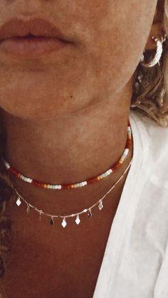 Bead Jewellery, Beaded Jewelry, Jewelery, Beaded Bracelets, Summer Bracelets, Summer Jewelry, Diy Necklace, Necklace Designs, Necklaces