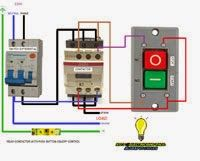 Electrical diagrams: RELAY CONTACTOR WITH PUSH BUTTON ON/OFF CONTROL