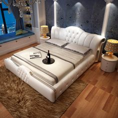 leather bed sets on sale at reasonable prices, buy or bed leather home soft leather bed for bedroom set from mobile site on Aliexpress Now! Bedroom Bed, Leather Bedroom Set, Bed Furniture Design, Leather Bedroom, Leather Bed Bedroom, Bedroom Interior, Leather Bed, Bedroom Furniture Sets, Bedroom Bed Design
