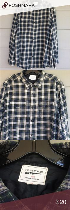 Field and Stream men's cotton flannel shirt Iconic brand Field & Stream quality flannel shirt.  Very warm and cozy. New condition.  Size XL field & stream Shirts Casual Button Down Shirts