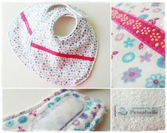Bib, Fabric 100% cotton, back in white terry cloth. Intercalated with waterproof fabric to keep the baby's chest dry. Closes with velcro.Machine wash at 40ºC.Dim. 22x35 cm