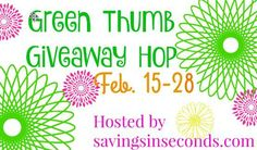 Green Thumb Giveaway Hop Sign up #Blogger #Signups open