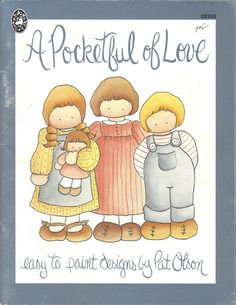 A Pocketful of Love Easy to Paint Designs by Pat Olson Tole Painting Book by DovesClosetInc on Etsy