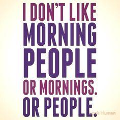 mornings or people