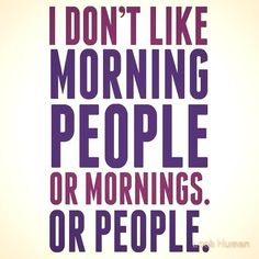 mornings or people