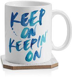 Deny Designs Karen Keep On Keepin On Mug