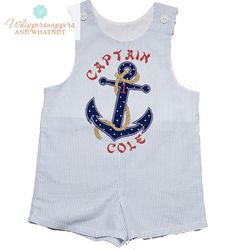 Nautical Nautical Birthday Anchor Outfit by Whippersnappersandwh