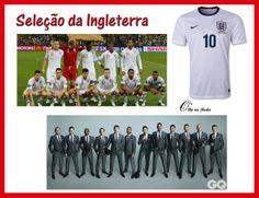 Uniforme da Seleção do Grupo D - Copa 2014...Brasil ...@olho_moda ...Os Ingleses estavam bem estilosos