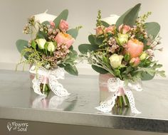 Flowers of Soul: Lumanari de nunta Diy Wedding, Wedding Flowers, Design Floral, Crepe Paper, Glass Vase, Wedding Inspiration, Candles, Table Decorations, Weddings