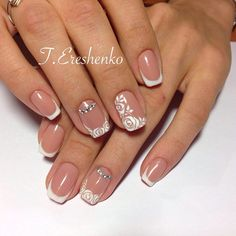 Dainty French mani