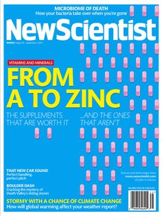 This week we chose NewScientist's August 30 issue for magazine cover of the week. Dr. Mario anyone?