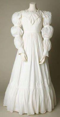 Cotton day dress, c. 1820s