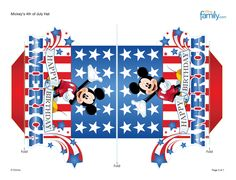 Part of Mickeys hat centerpiece--- http://skgaleana.com/free-4th-of-july-disney-printables-and-decorations/