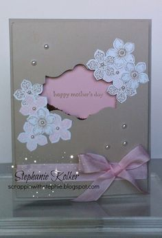 Stampin up mothers day card. Petite petals stamp set. teeny tiny wishes. card ideas. card making