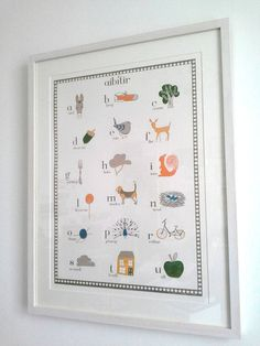 Gorgeous Irish language alphabet print  The Original Irish Alphabet  18 Letters  by placed, $25.00 (Etsy)