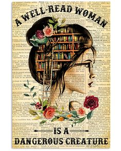 I Love Books, Books To Read, Poster Wall, Poster Prints, Art Print, Reading Posters, Reading Art, Woman Reading, Canvas Wall Decor