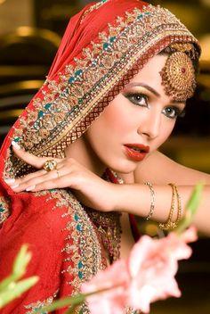 fashion models with orange hair | Pakistani Model Ayyan in Bridal Dress
