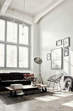 Industrial Bohemian Open Living Room