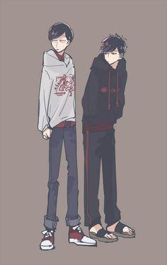 Osomatsu San Doujinshi, Body Shots, Ichimatsu, Twin Brothers, Cute Anime Guys, Anime Outfits, Me Me Me Anime, Art Projects, Fan Art